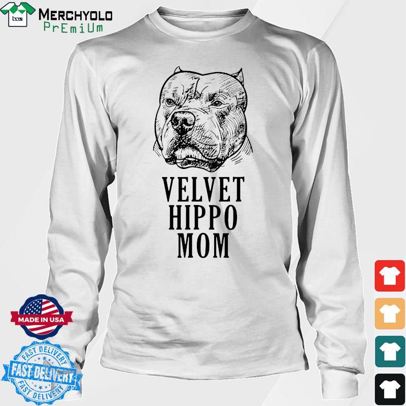 Pitbull Dogs Velvet Hippo Mom Shirt Long Sweater