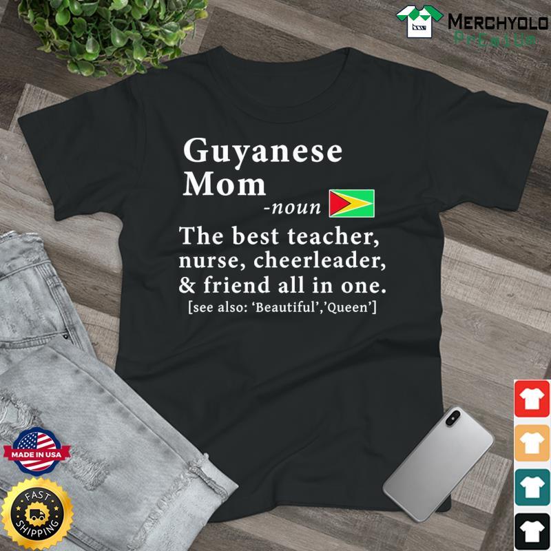 Guyanese Mom Definition Guyana Flag Mothers Day T-Shirt
