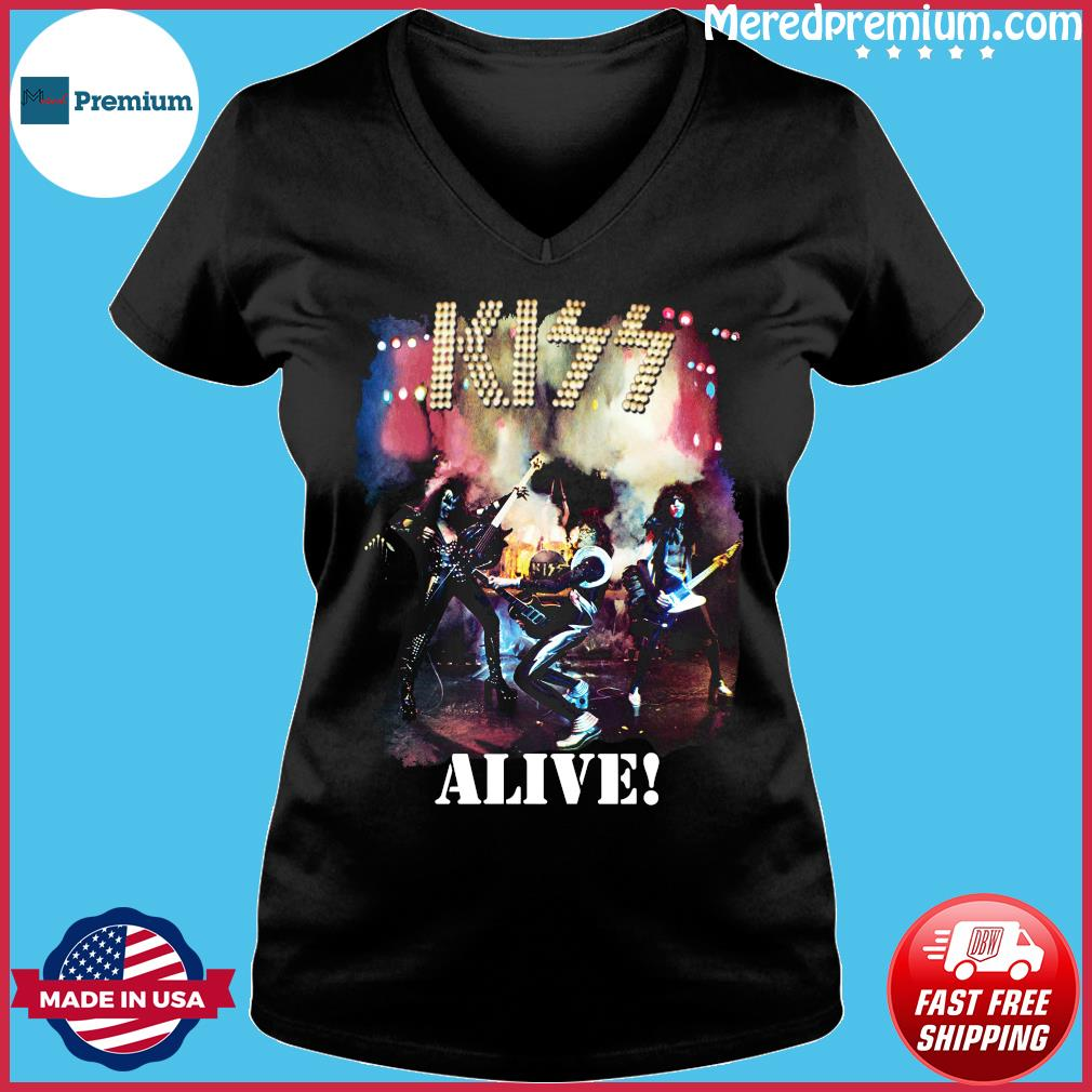 Kiss Alive Shirt Ladies V-neck