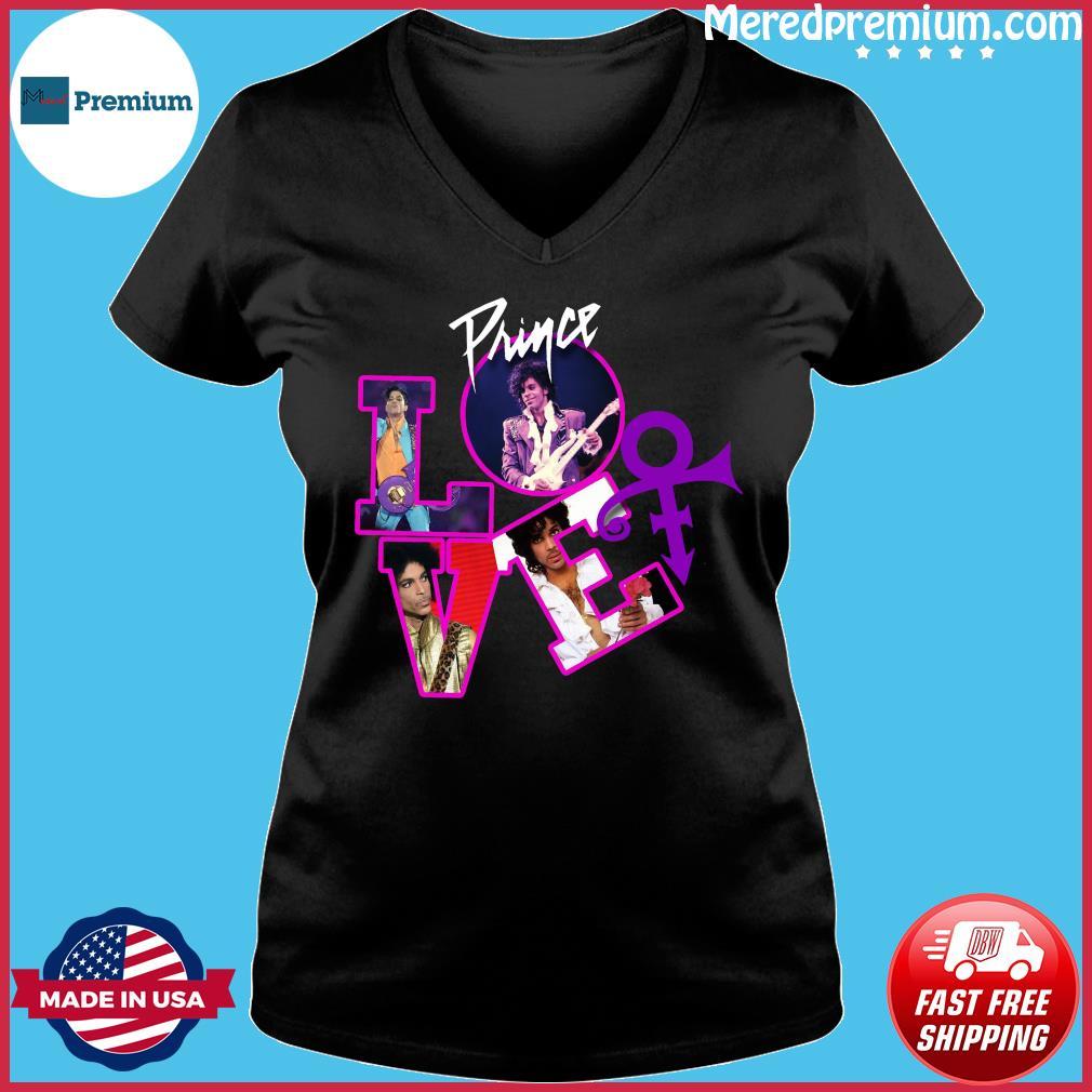Love Prince Rogers Nelson Shirt Ladies V-neck