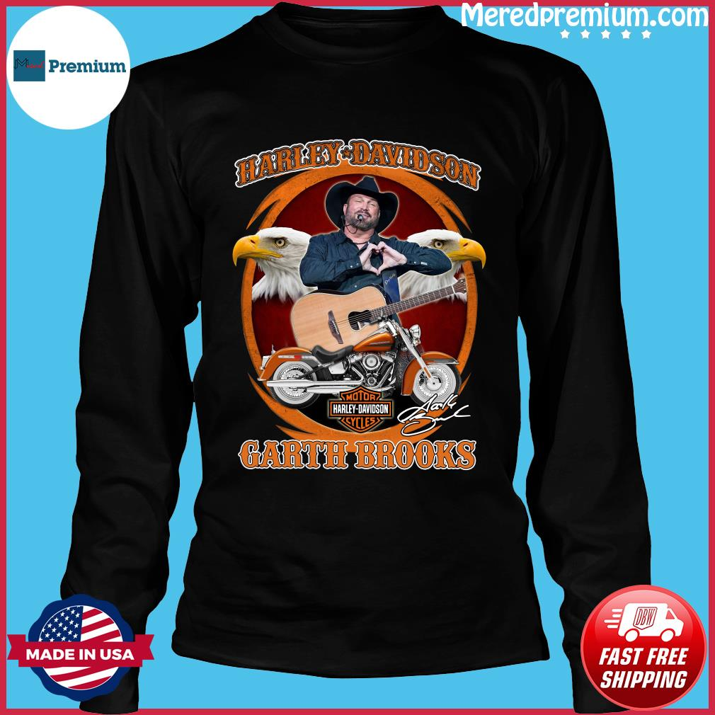 Motor Harley Davidson Cycles Garth Brooks Signature Shirt Long Sleeve