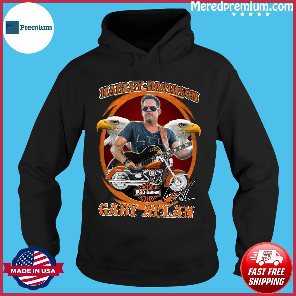 Motor Harley Davidson Cycles Gary Allan Signature Shirt Hoodie