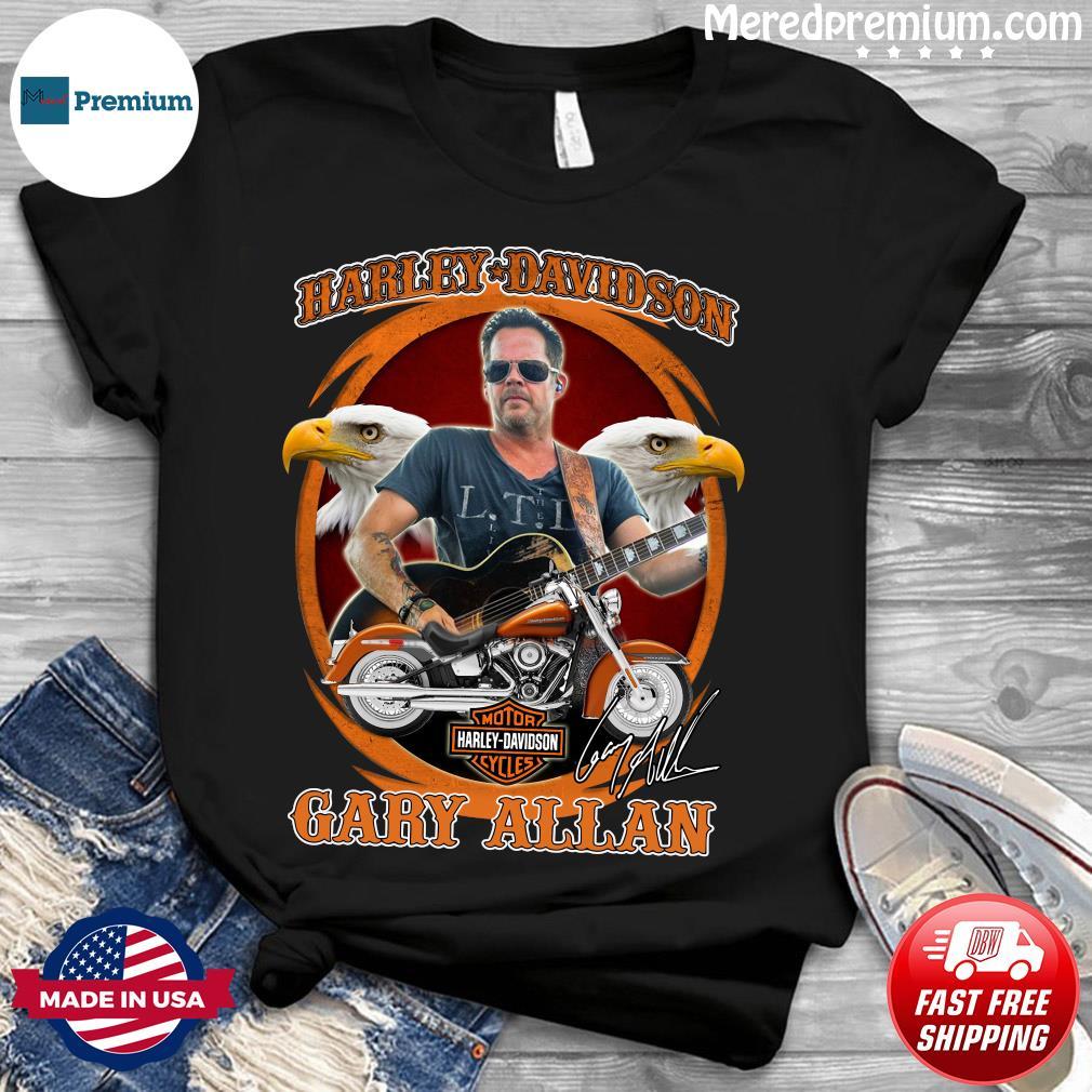 Motor Harley Davidson Cycles Gary Allan Signature Shirt