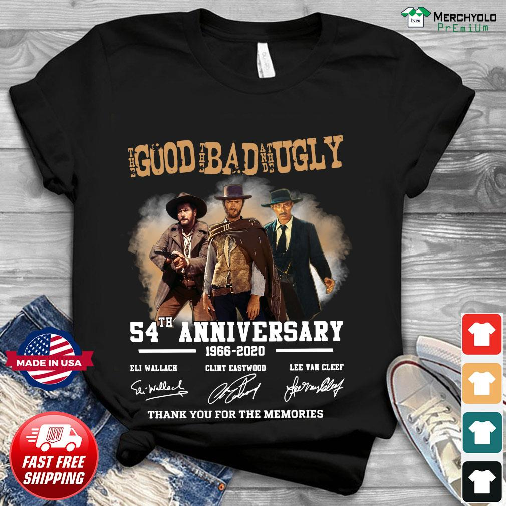 The Good The Bad And The Ugly 54th annivesary 1966 2020 signatures thank you for the memories shirt