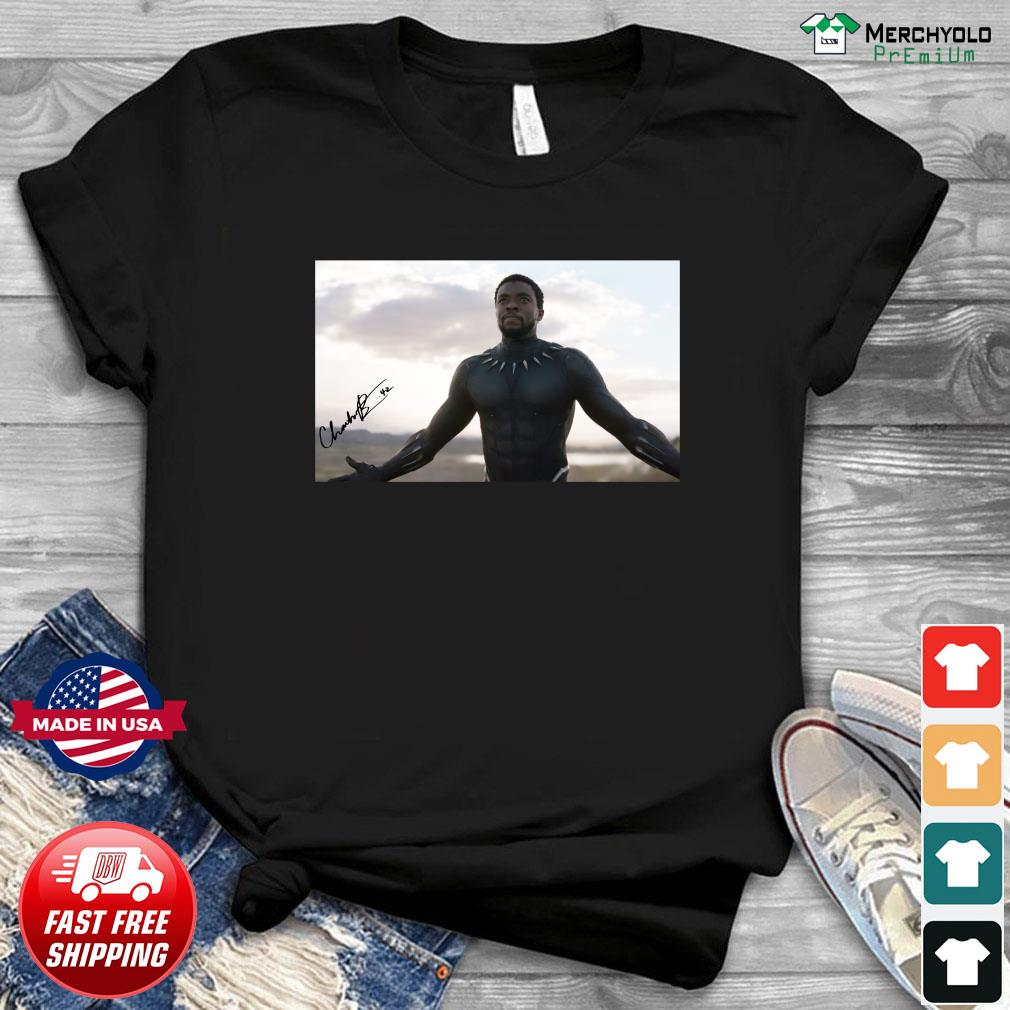 Rip Chadwick Boseman 1977 2020 Black Panther Signature Thank You For The Memories Shirt Hoodie Sweater Long Sleeve And Tank Top