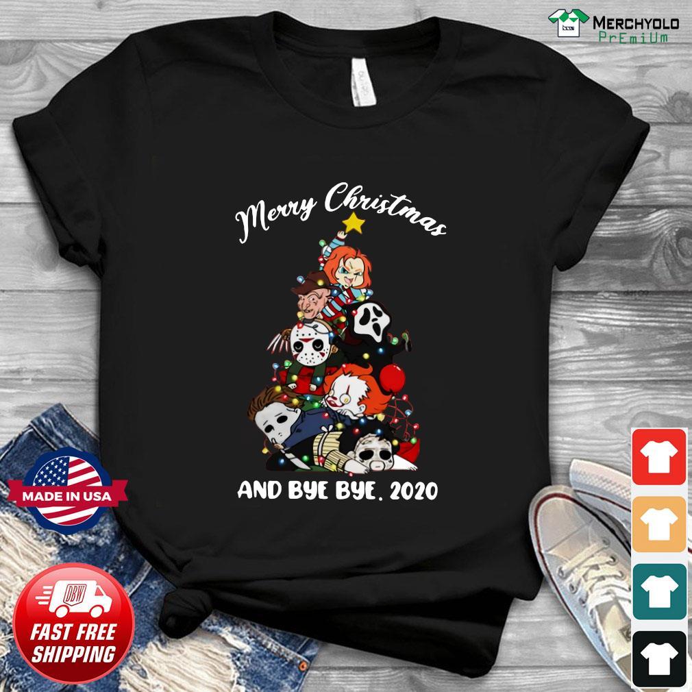 2020 Horror Christmas Pretty Horror tree Merry Christmas and bye bye 2020 shirt, hoodie