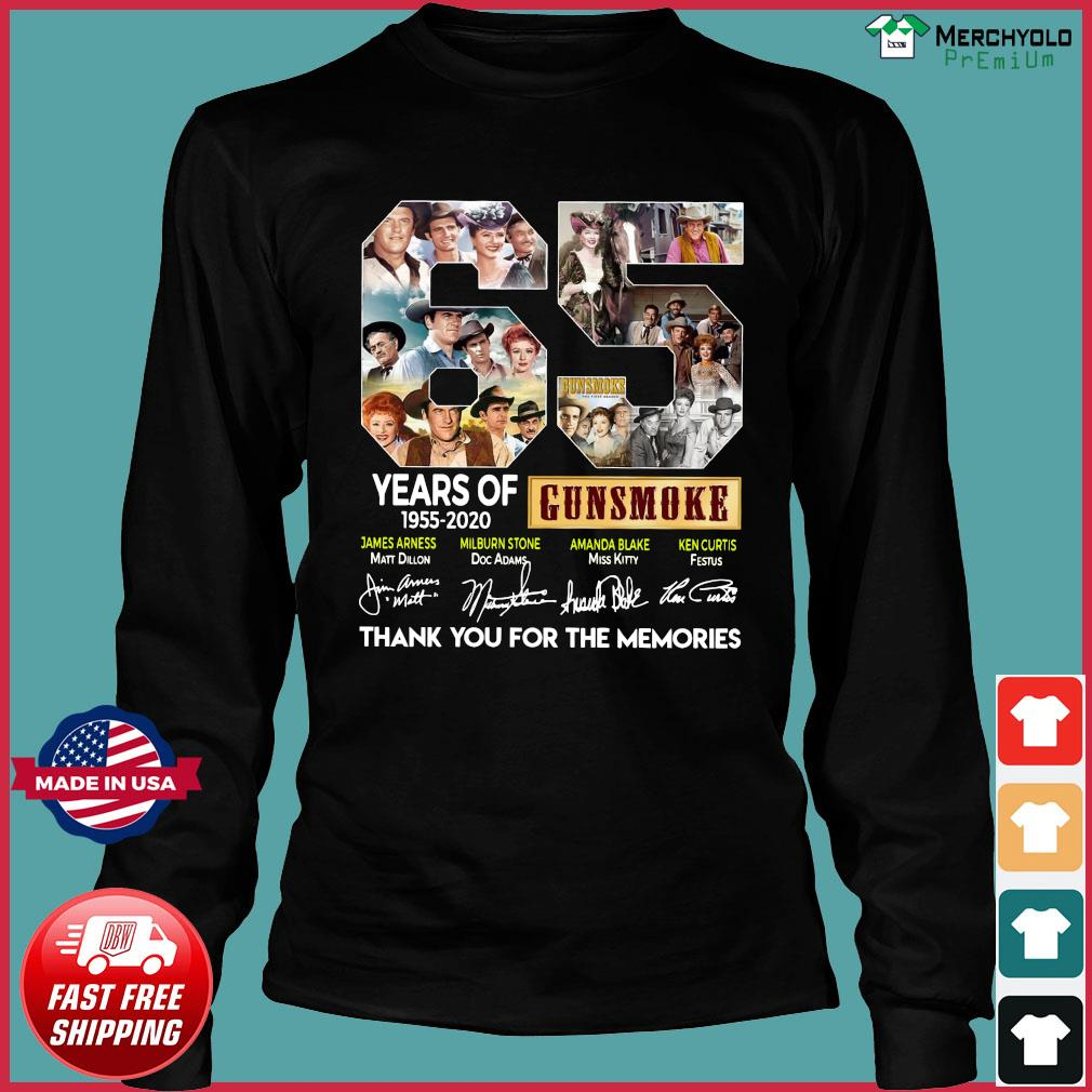 65 Years Of Gunsmoke 1955 2020 Thank You For The Memories Signatures Shirt Long Sleeve