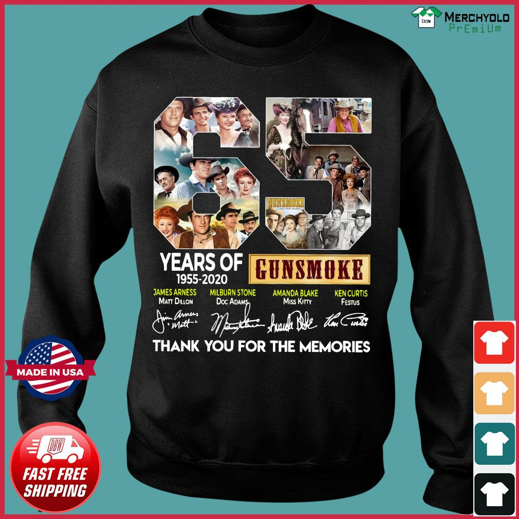 65 Years Of Gunsmoke 1955 2020 Thank You For The Memories Signatures Shirt Sweater