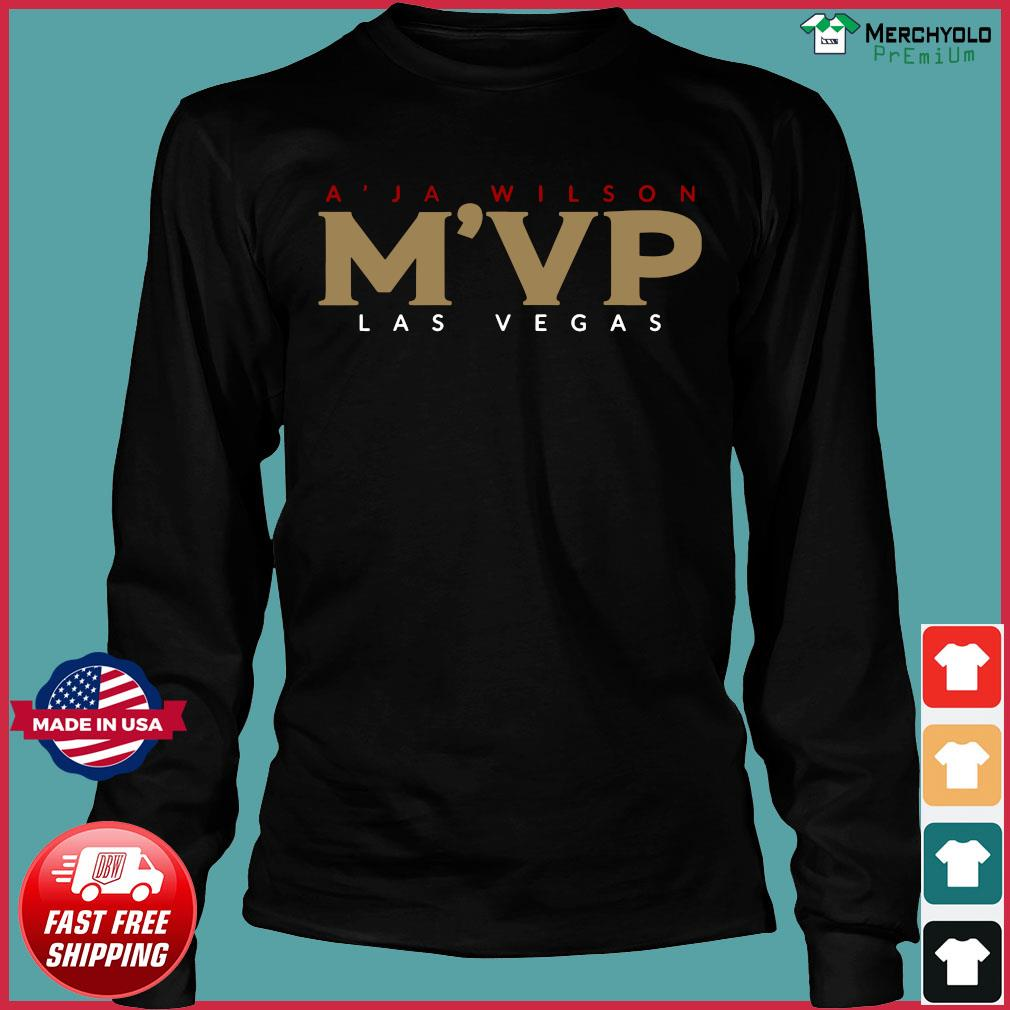 A'ja Wilson Mvp Las Vegas Official Shirt Long Sleeve