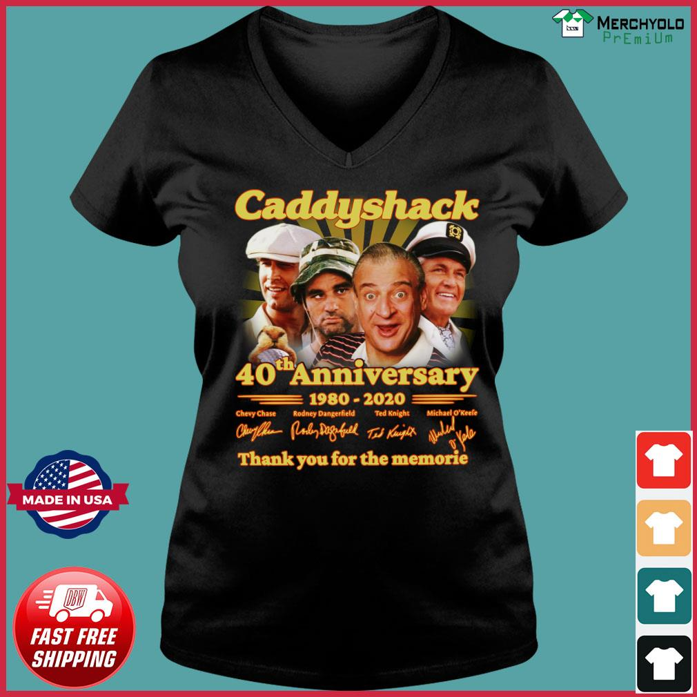 Caddyshack 40th Anniversary 1980 2020 Thank You For The Memories Signatures Shirt Ladies V-neck Tee