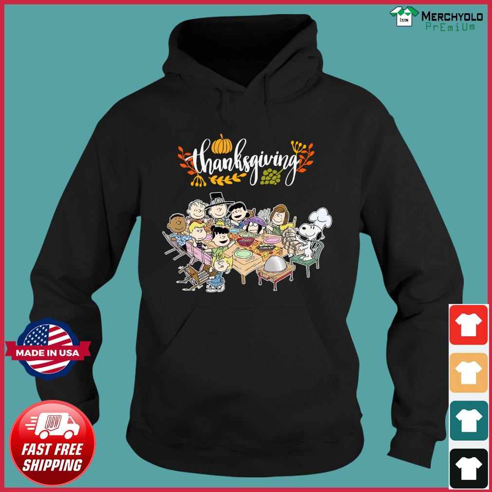 Charlie Brown And The Peanuts Snoopy Thanksgiving Shirt Hoodie