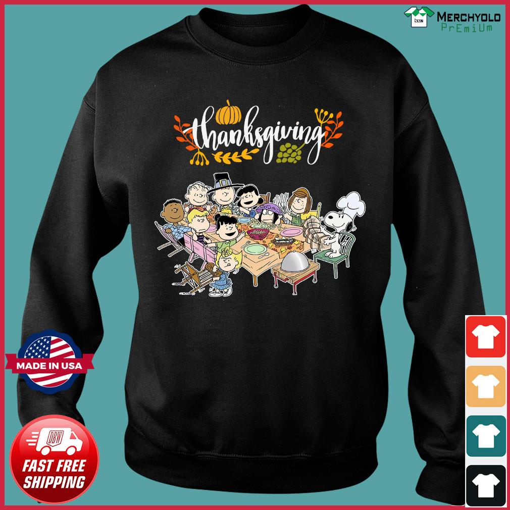 Charlie Brown And The Peanuts Snoopy Thanksgiving Shirt Sweater
