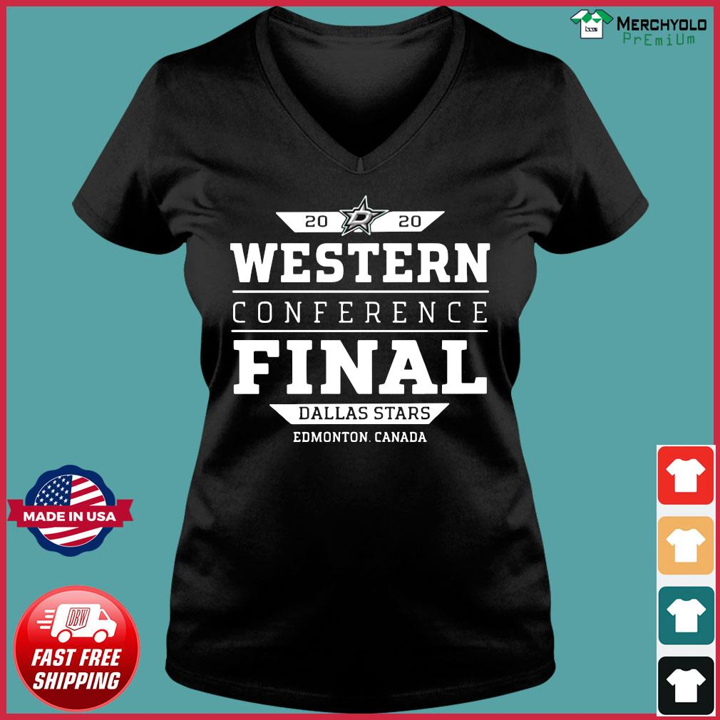 Dallas Stars 2020 Western Conference Final Edmonton Canada Shirt Ladies V-neck Tee