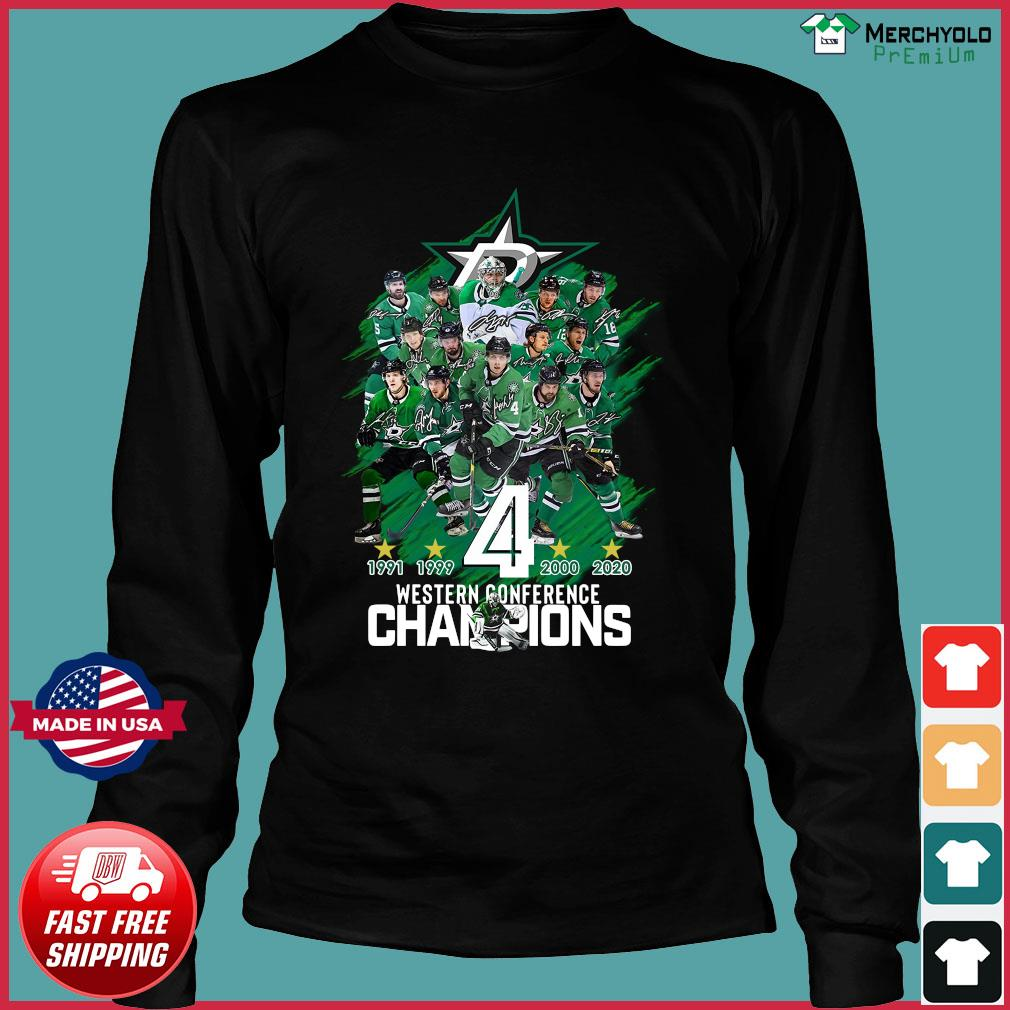 Dallas Stars player Western Conference Champions signatures s Long Sleeve