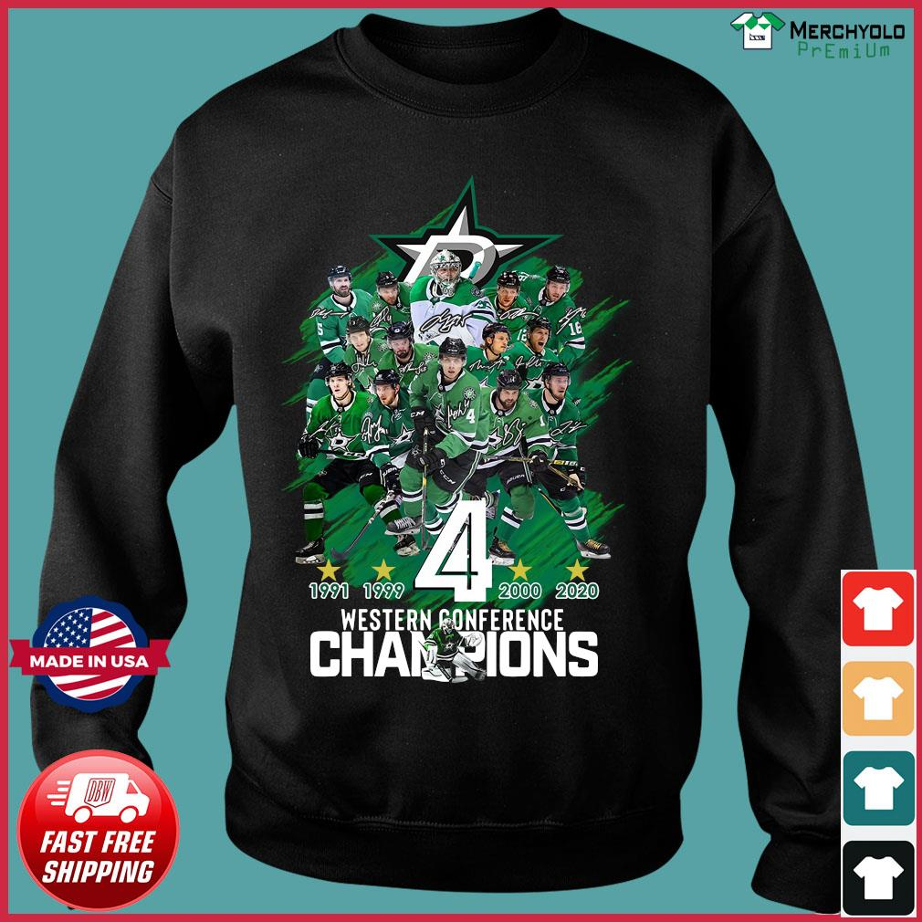 Dallas Stars player Western Conference Champions signatures s Sweater