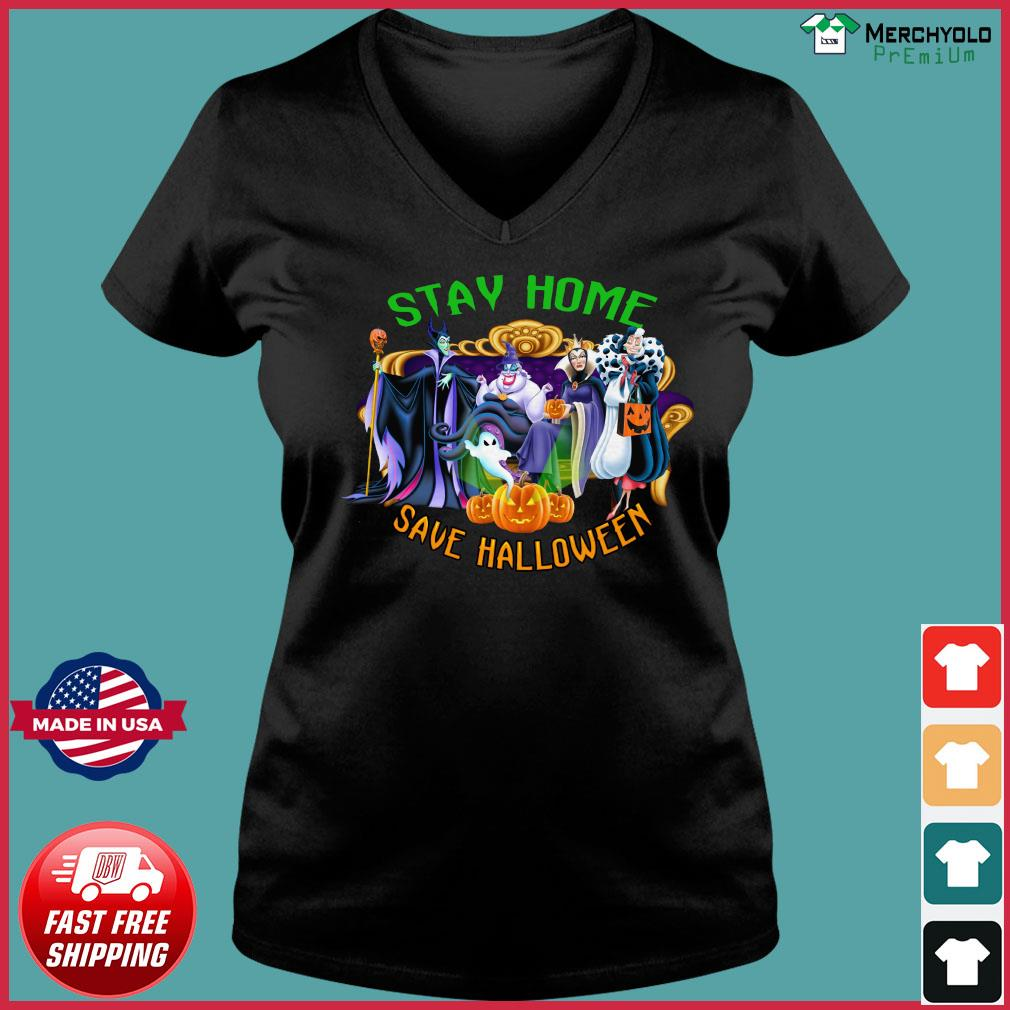 Disney Stay Home Save Halloween Shirt Ladies V-neck Tee