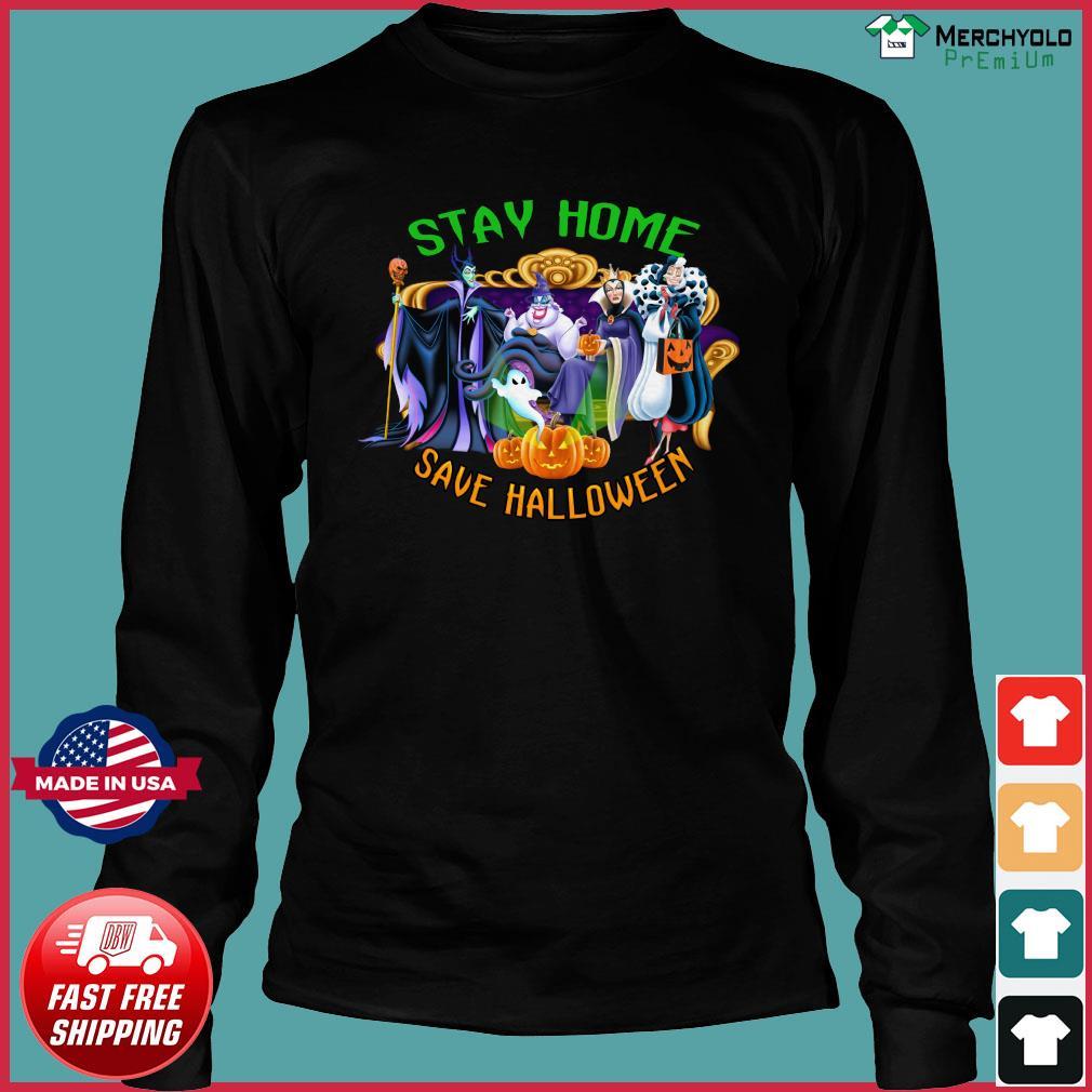 Disney Stay Home Save Halloween Shirt Long Sleeve