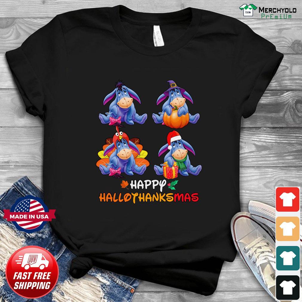 Eeyore Happy Hallothanksmas Pumpkin Shirt