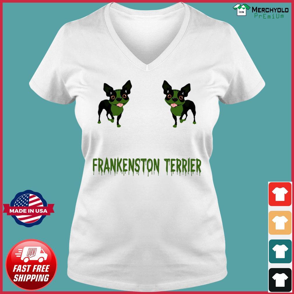 Frankenstein Terrier Shirt Ladies V-neck Tee