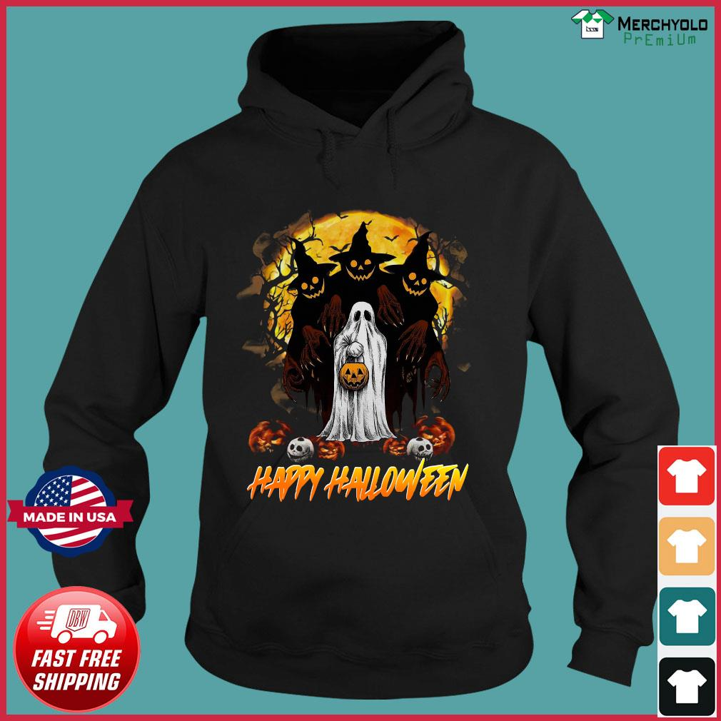 Ghost Happy Halloween Pumpkin Shirt Hoodie