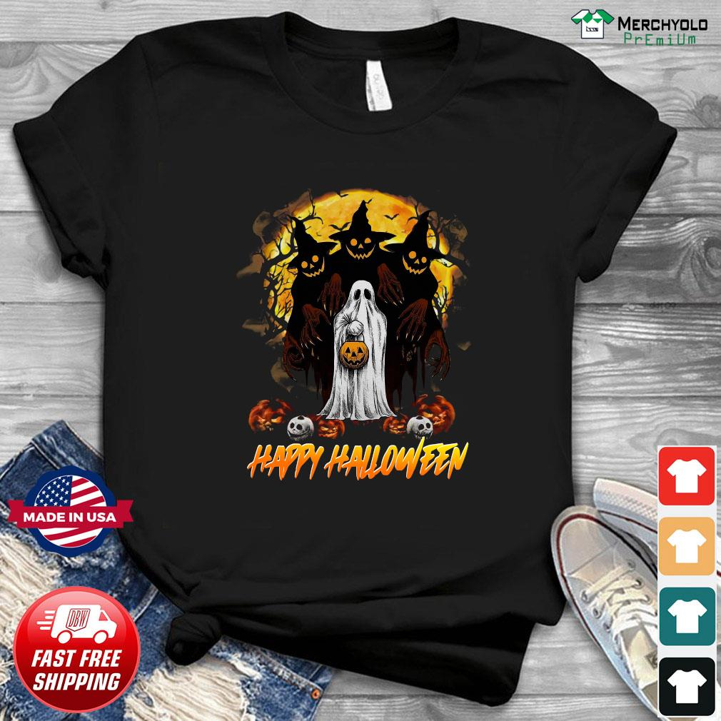 Ghost Happy Halloween Pumpkin Shirt