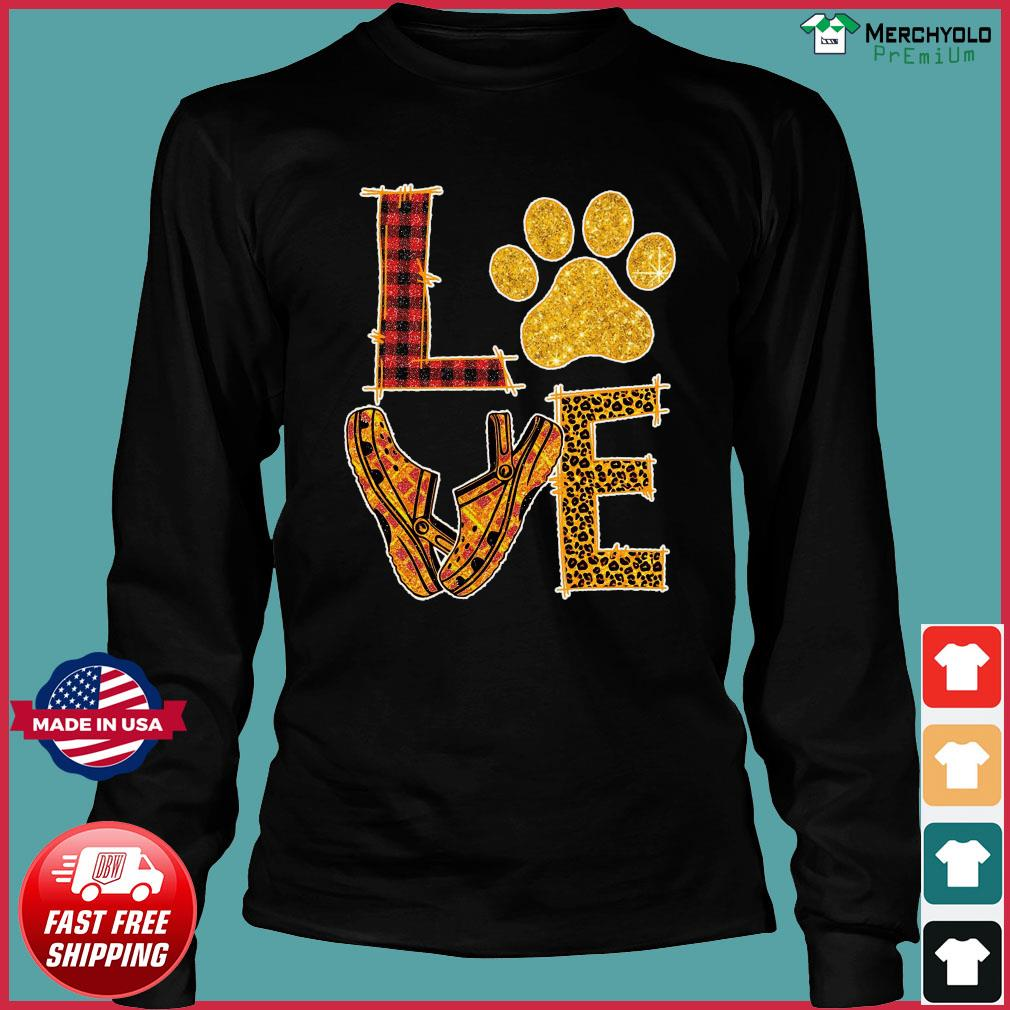 Love Paw Dog Crocs Shirt Long Sleeve