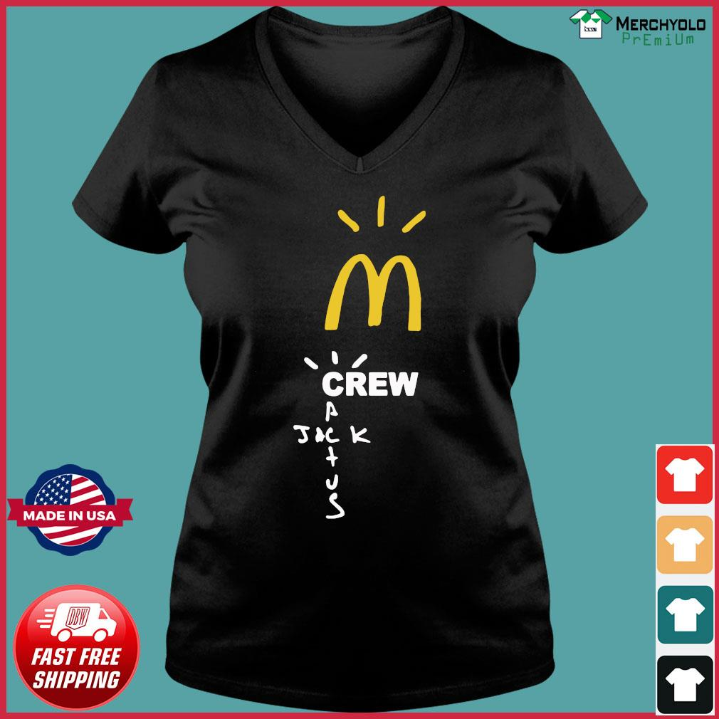 Mcdonalds Travis Scott Employee Travis Scott X Mcdonald's Merch Shirt Ladies V-neck Tee