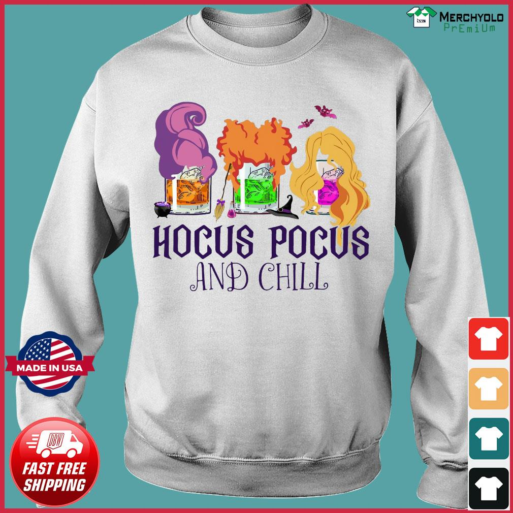 Official Hocus Pocus And Chill Halloween T-Shirt Sweater