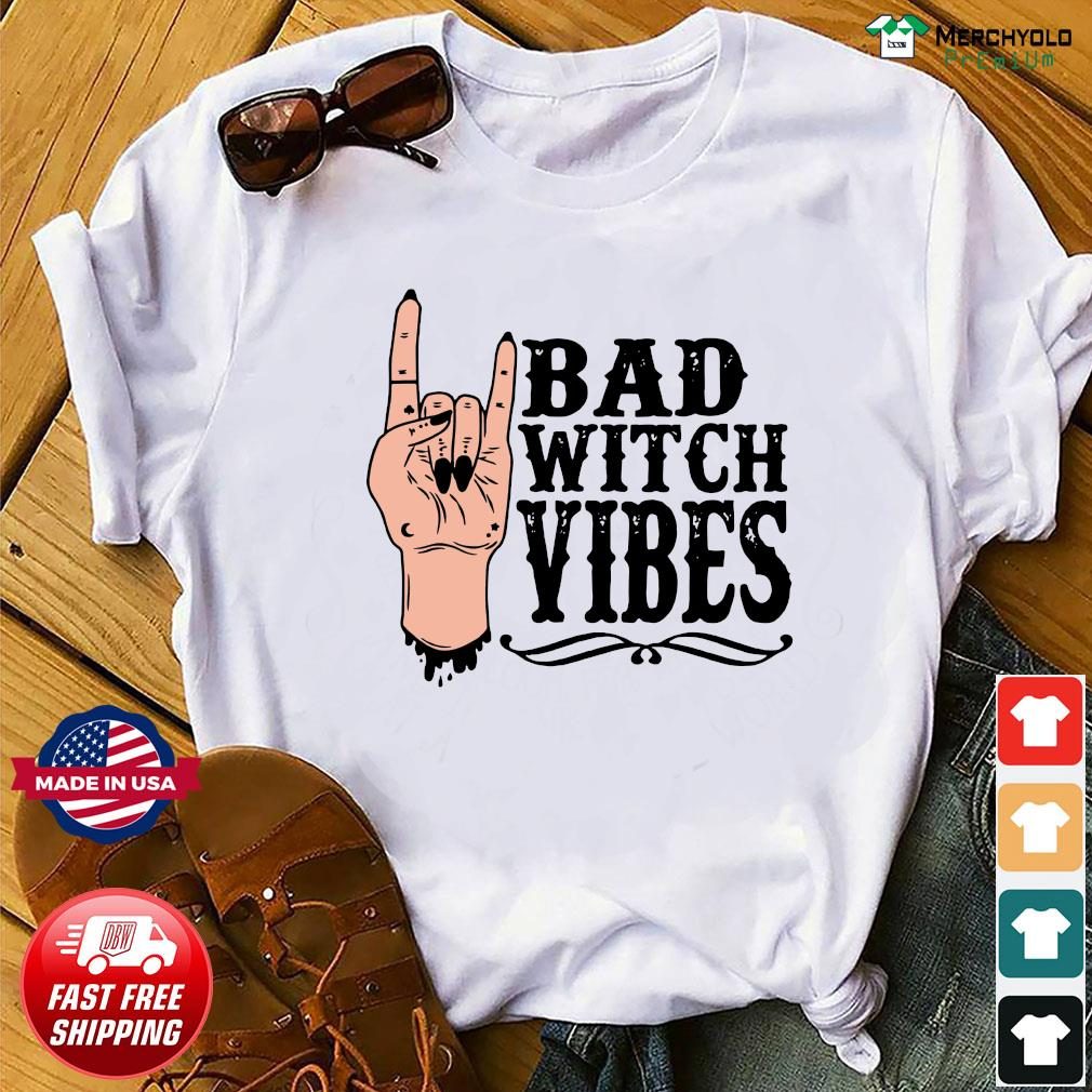 Peace Bad Witch Vibes Halloween Shirt