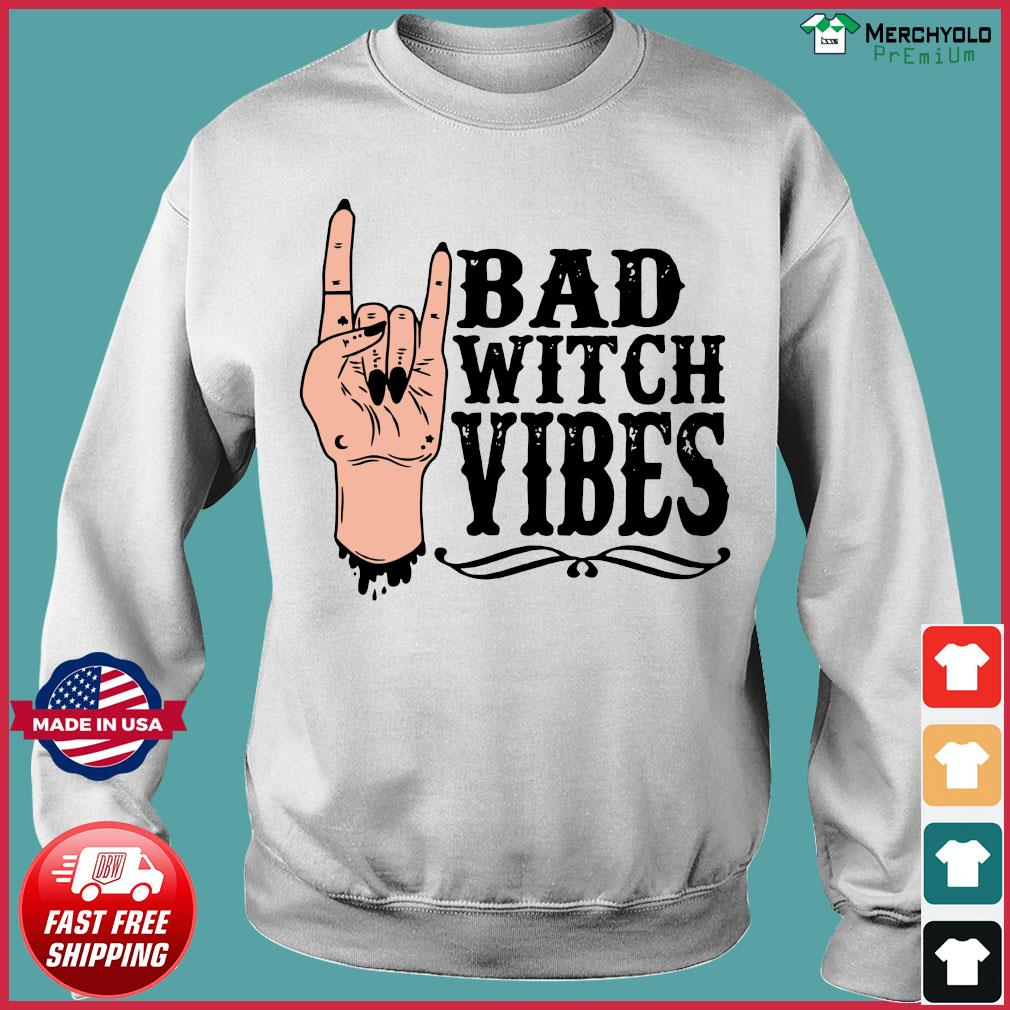 Peace Bad Witch Vibes Halloween Shirt Sweater