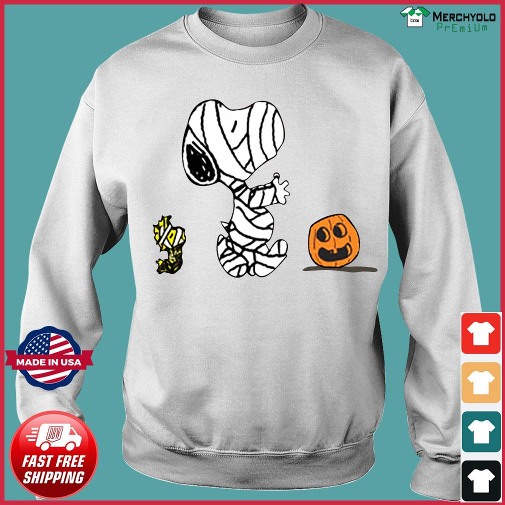 Snoopy Mummies and Woodstock pumpkin Halloween s Sweater