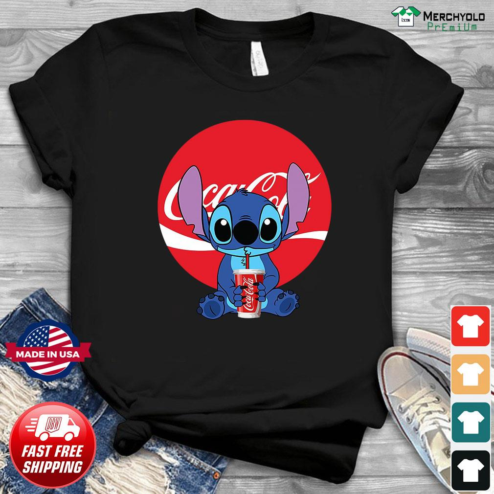 Stitch Drinking Coca Cola Shirt
