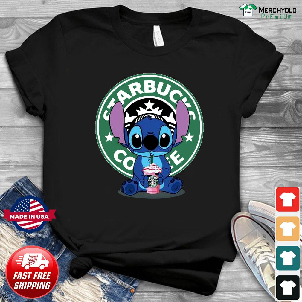 Stitch Drinking Starbucks Coffee Shirt