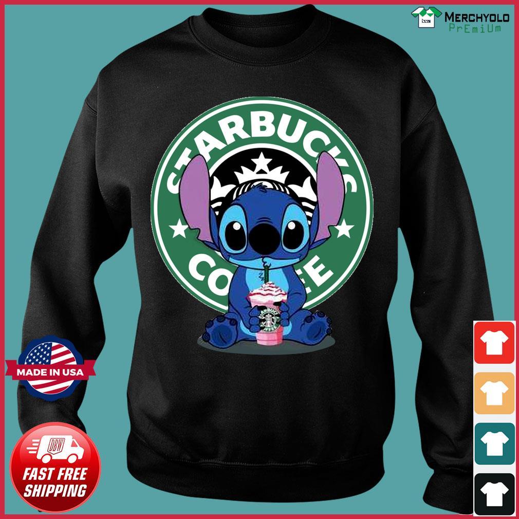 Stitch Drinking Starbucks Coffee Shirt Sweater