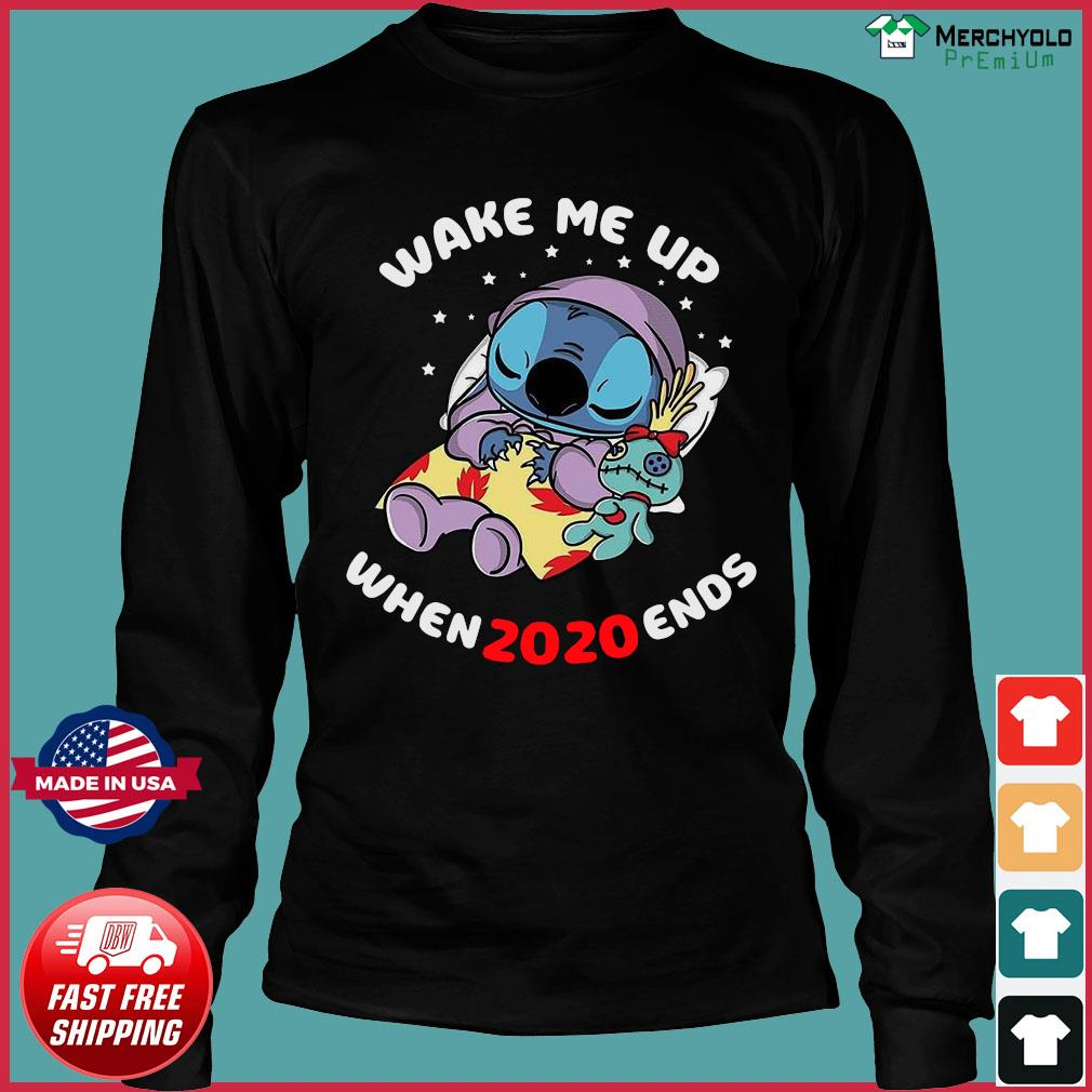 Stitch Wake Me Up When 2020 Ends Shirt Long Sleeve