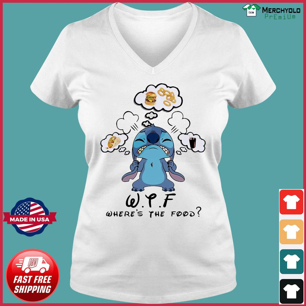 Stitch WTF Where's The Food Shirt Ladies V-neck Tee