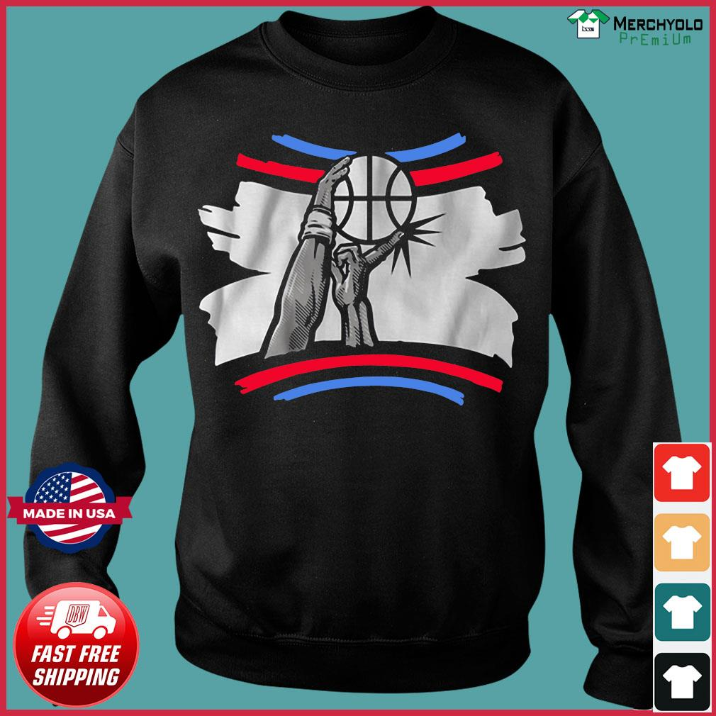 The Finger Block Los Angeles Basketball 2020 Funny Shirt Sweater