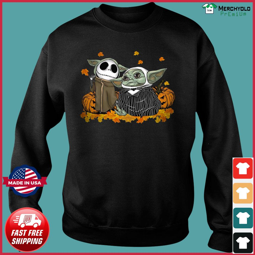 Baby Jack Skellington and Baby Yoda Halloween s Sweater