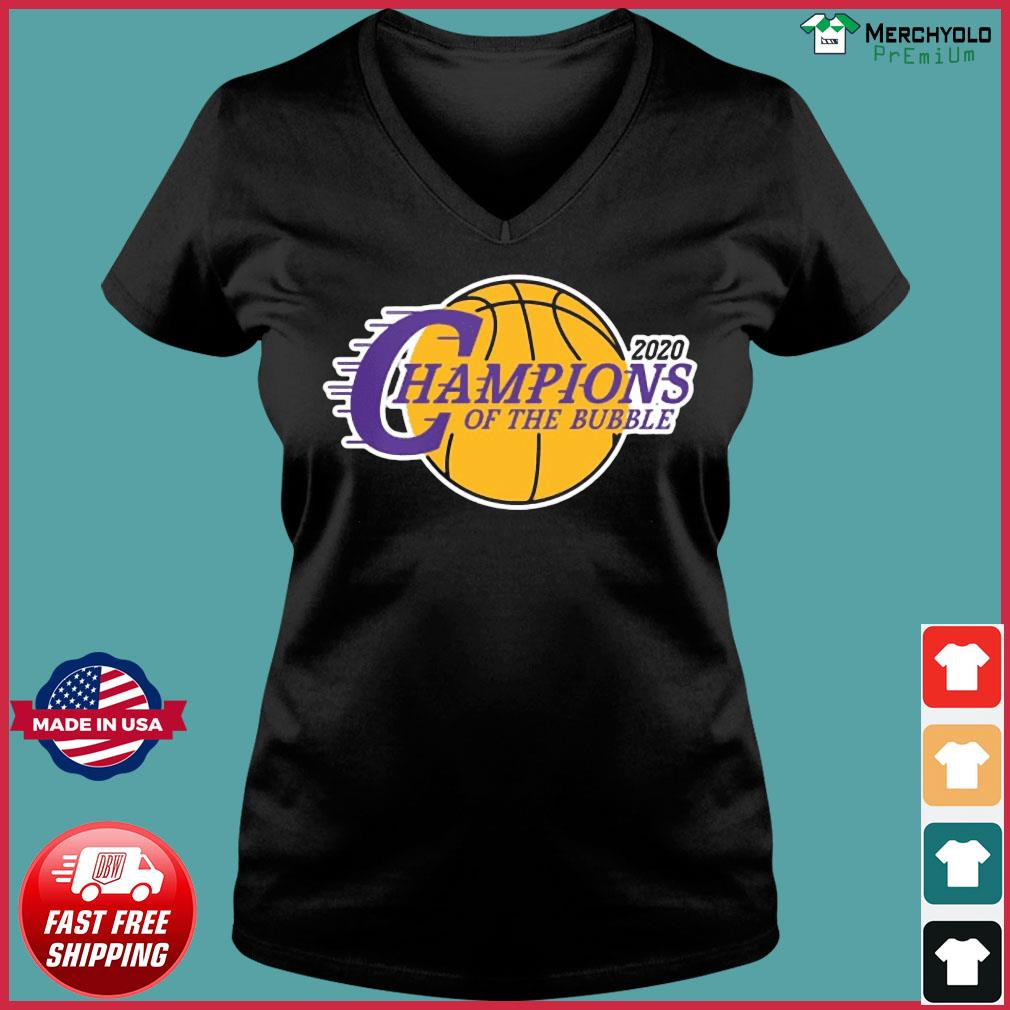Champions Of The Bubble Basketball 2020 Shirt Ladies V-neck Tee
