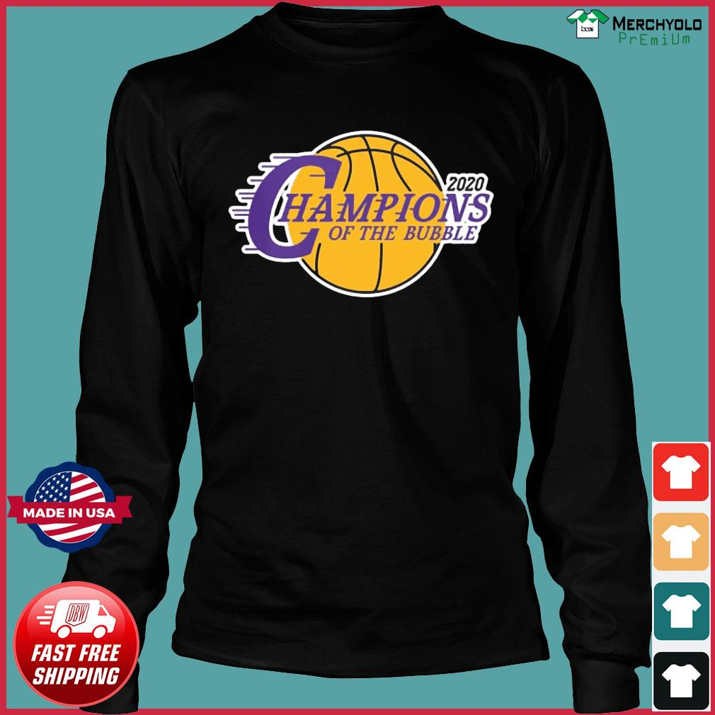Champions Of The Bubble Basketball 2020 Shirt Long Sleeve