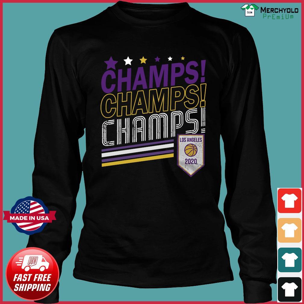 Champs Champs Champs Los Angeles 2020 Baseball Shirt Long Sleeve