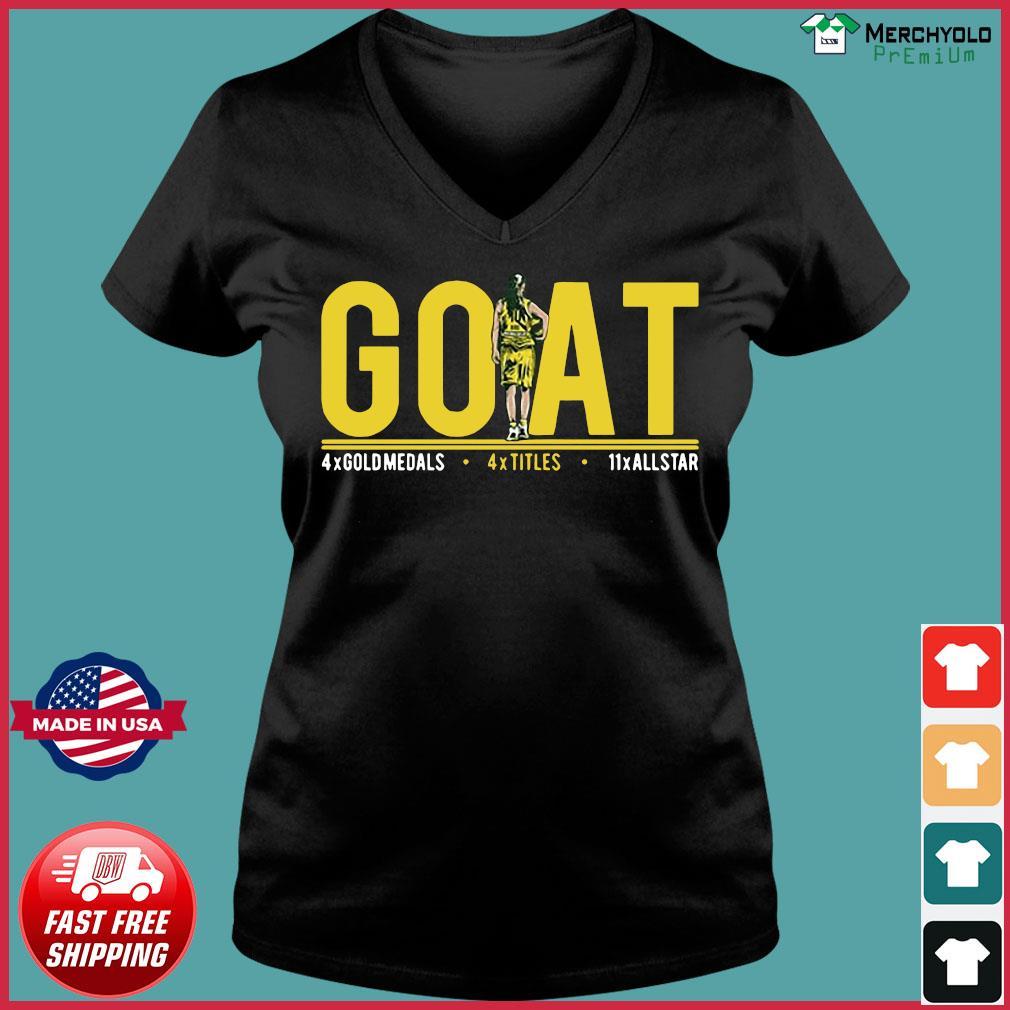 Goat 4x Gold Medals 4x Titles 11x All Star Shirt Ladies V-neck Tee