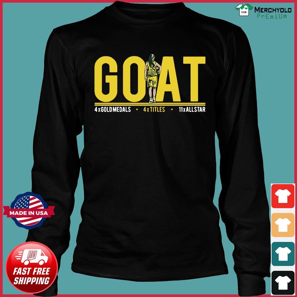 Goat 4x Gold Medals 4x Titles 11x All Star Shirt Long Sleeve