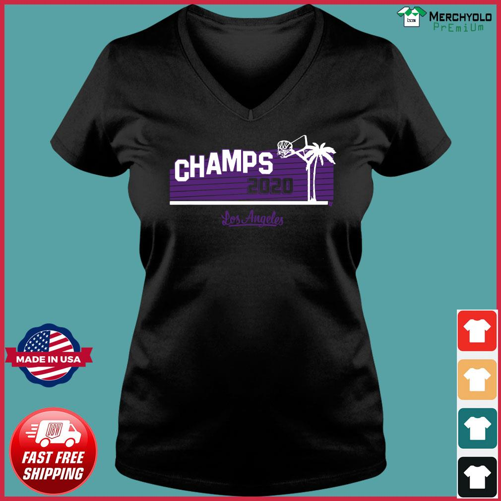 Hollywood Champs Shirt – L.A 2020 Basketball Ladies V-neck Tee