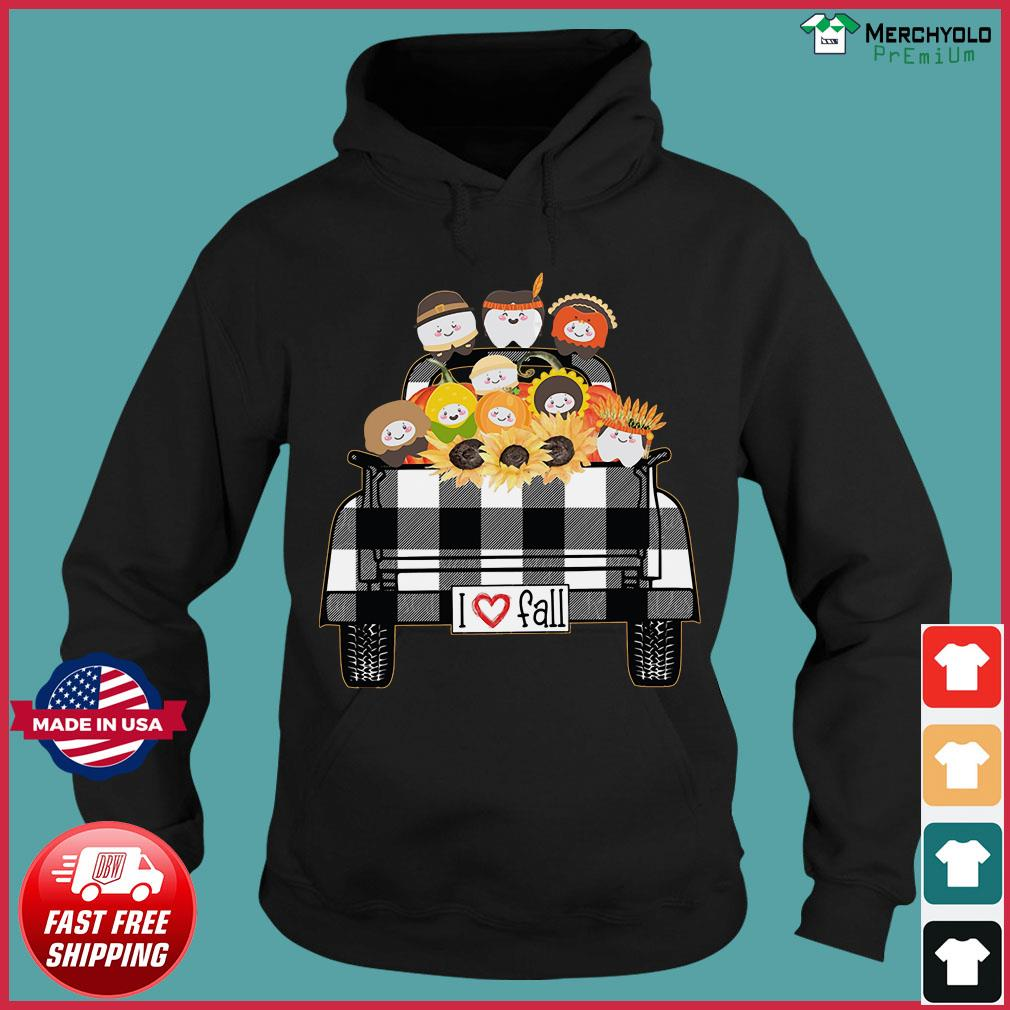 I Love Fall Tooth Sunflower native Shirt Hoodie