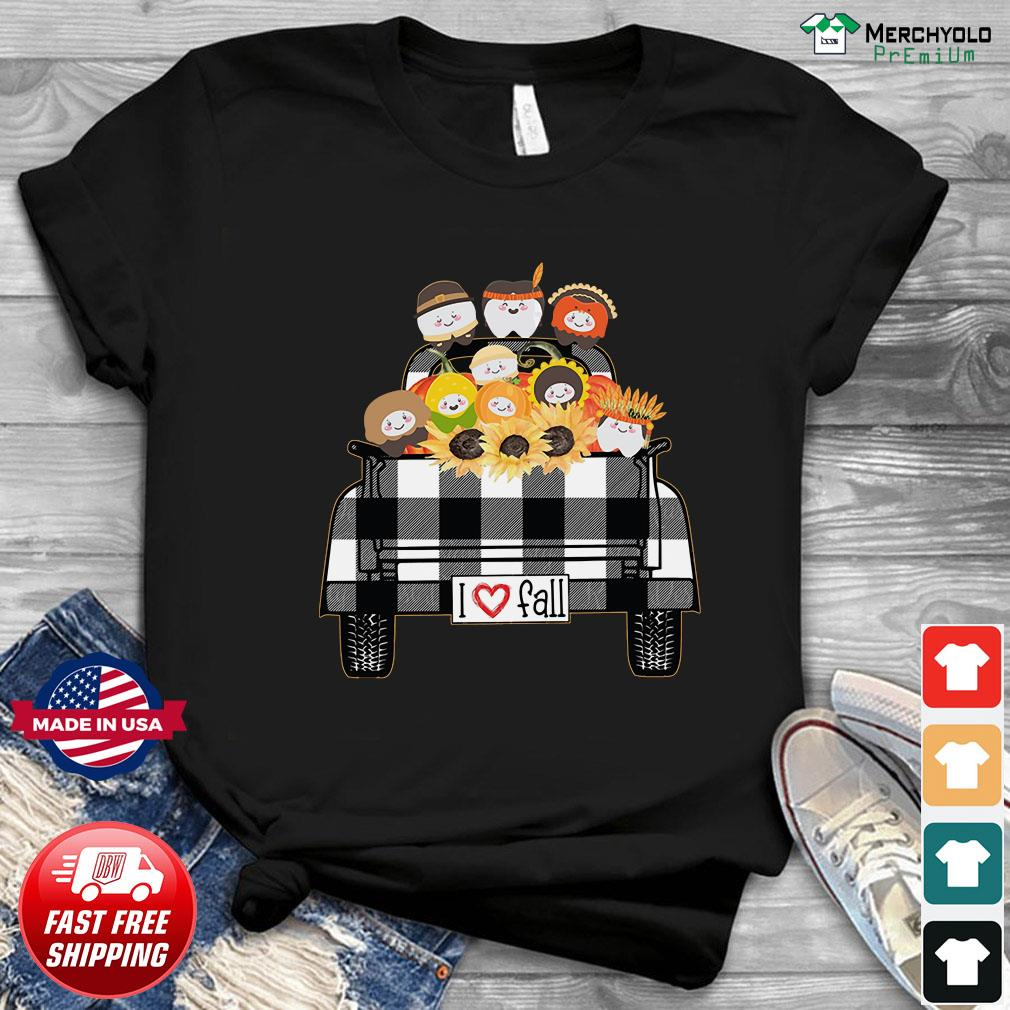 I Love Fall Tooth Sunflower native Shirt