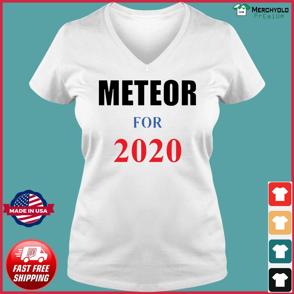 Meteor for 2020 Official T-Shirt Ladies V-neck Tee