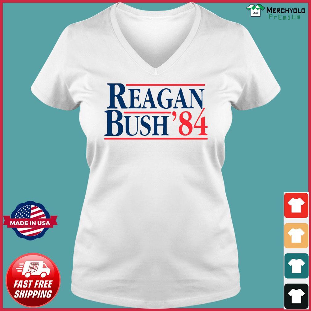 Reagan Bush 84 Shirt Ladies V-neck Tee