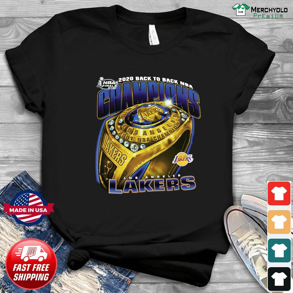 Ring Los Angeles Lakers Champions 2020 Back To Back Nba Shirt Hoodie Sweater Long Sleeve And Tank Top
