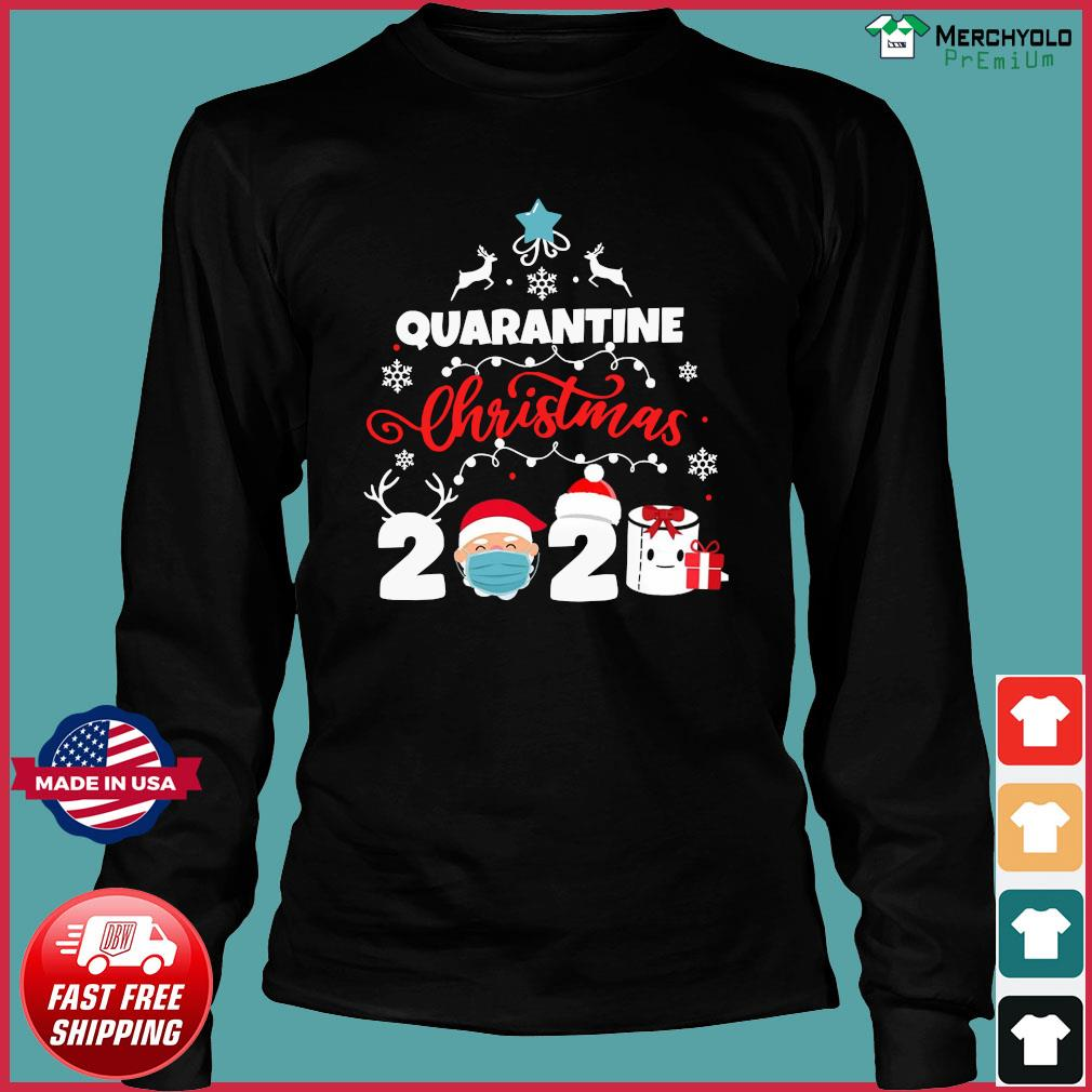 Xmas Quarantine Christmas 2020 Social distancing Christmas Shirt Long Sleeve